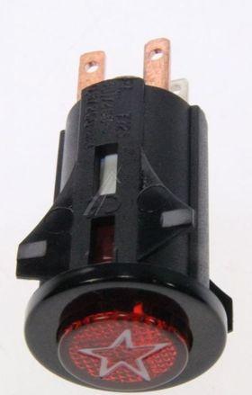 PULSANTE + LAMPADA SPIA NERO C00031883